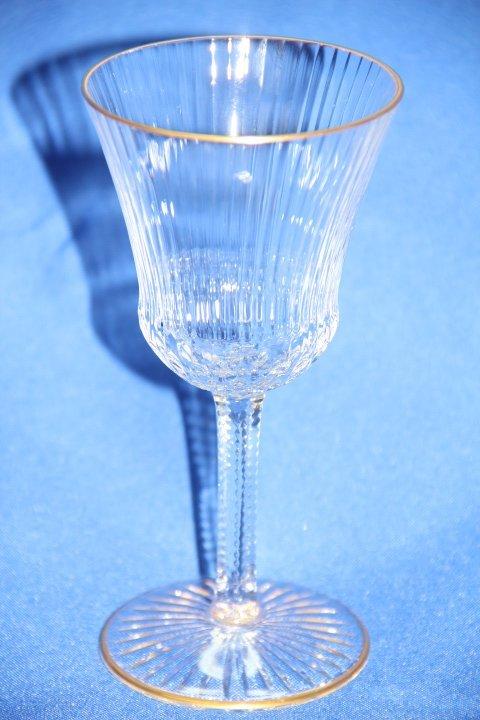 Saint  Louis France Crystal Burgundy  Wine  Goblets -