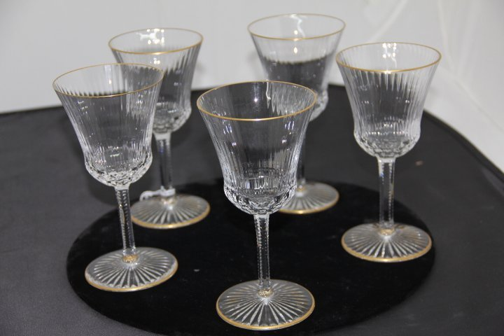 Eleven St.  Louis Crystal Wine Glasses