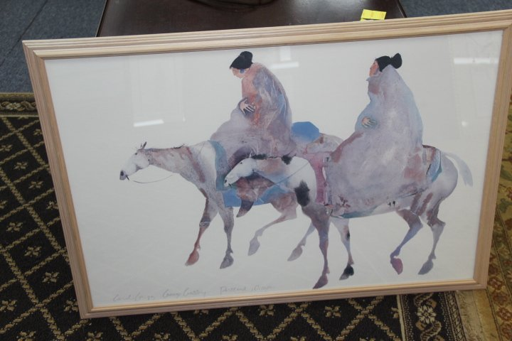 Print  of Two Women on Horseback by Carol Grigg