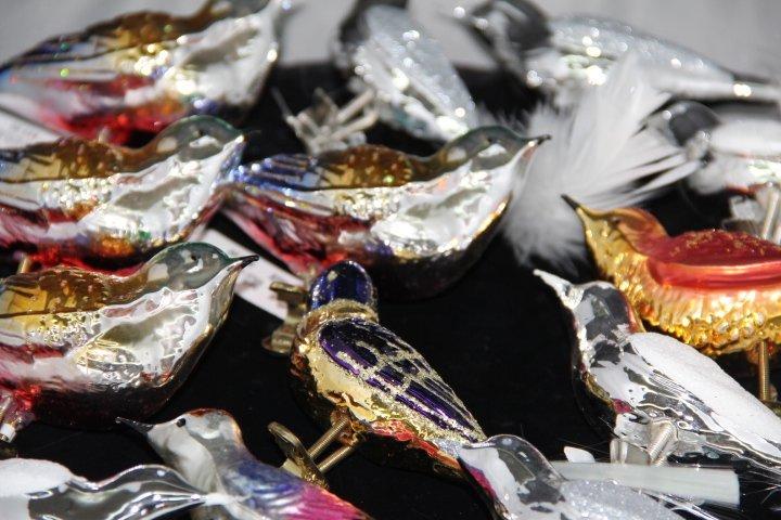 Mercury Glass Clip On Bird Ornaments - 2