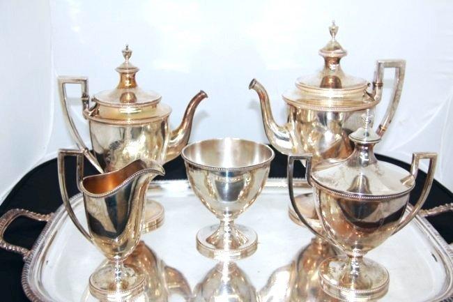 JE Caldweld Sterling Silver 6 pc. Coffee & Tea Set