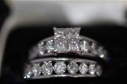 Ladies Diamond Engagement Ring 2 pcs.