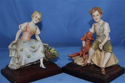 Pair of Italian Porcelain Figures