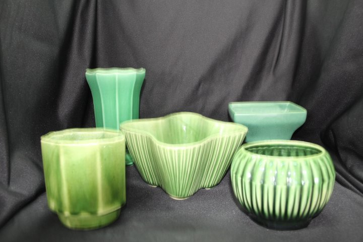 Five Pieces of McCoy and USA Pottery