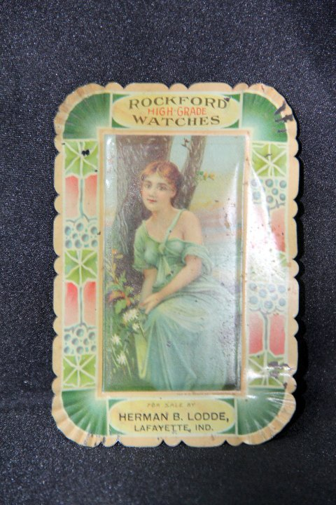Early Advertising Tip Tray - Rockford Watch Company
