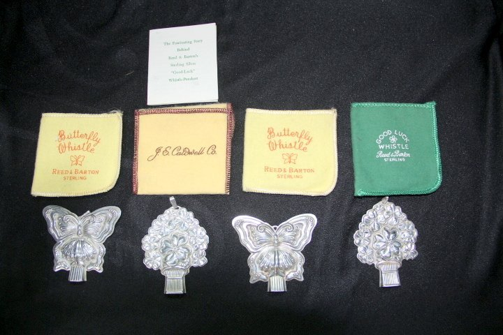 Reed & Barton Sterling Silver Whistles