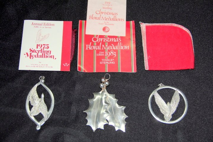 Group of Sterling Silver Ornaments