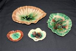 Four Pieces of Majolica