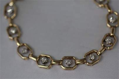 Gold and Diamond Ladies Bracelet