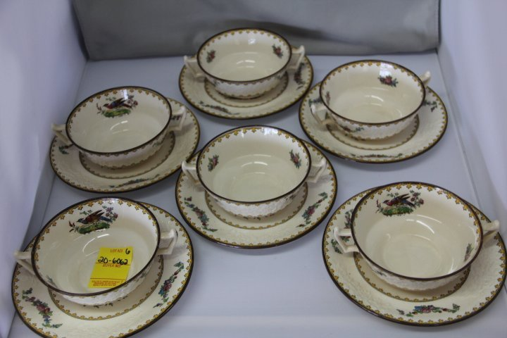 Copeland Spode Bouillon Cups and Saucers