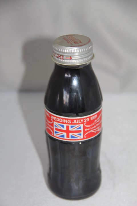 The Royal Wedding Coca Cola Bottle July 29, 1981