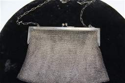 971517 Vintage German Silver Mesh Ladies Purse