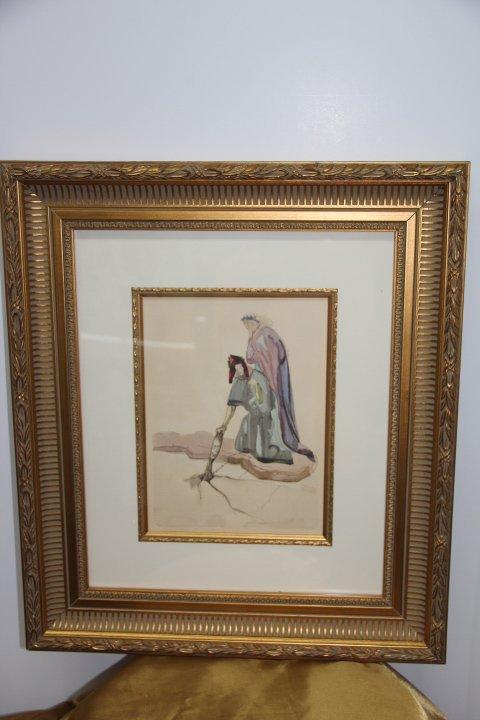 Salvador Dali Original Woodcut Engraving