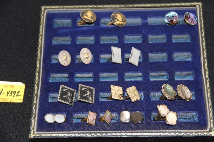 Lot of 11 Sets of Men's Cuff Links