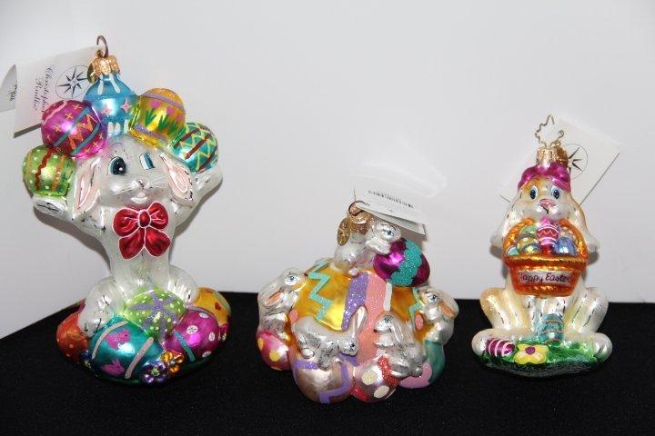 Three Christopher Radko Ornaments