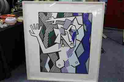 "Roy Lichtenstein - ""Nude in the Woods"""