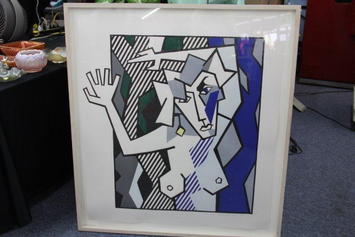 """Roy Lichtenstein - """"Nude in the Woods"""""""