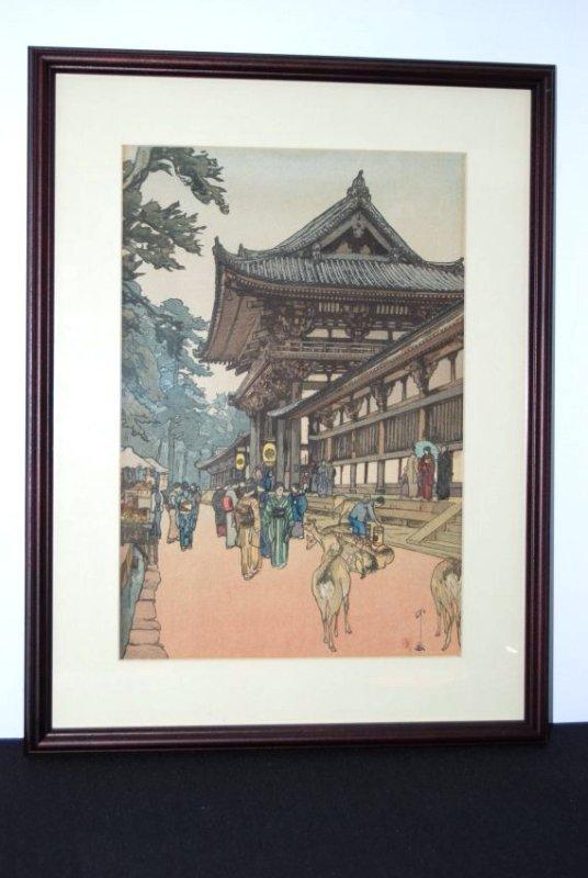 "Hiroshi Yoshida Extraordinary Woodblock print of ""Osaka"