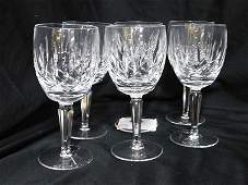 Set of Six Waterford Crystal Lismore Encore Wine
