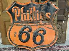 Vintage Phillip 66 Metal Advertising Sign