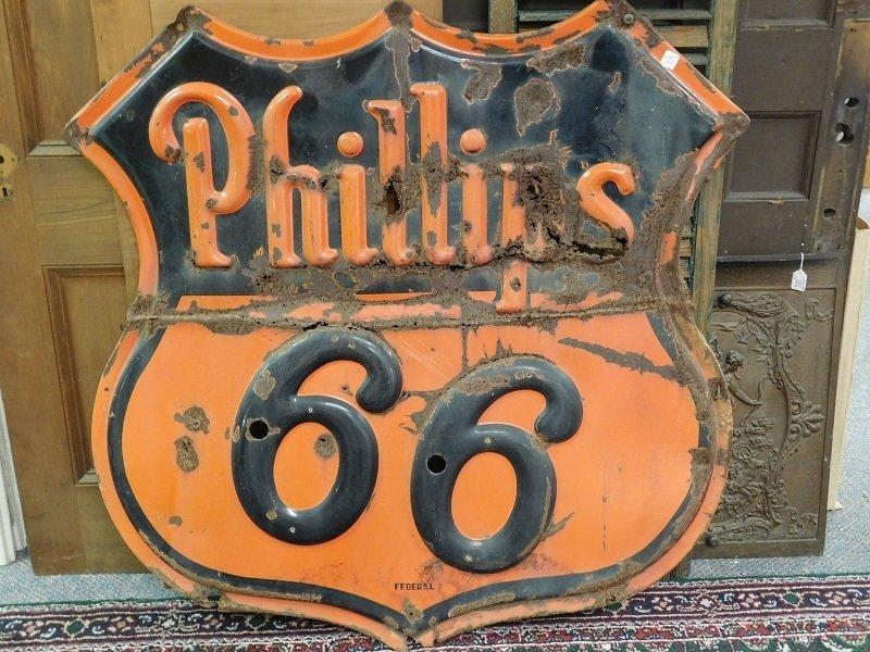 Vintage Phillip 66 Metal Advertising Sign
