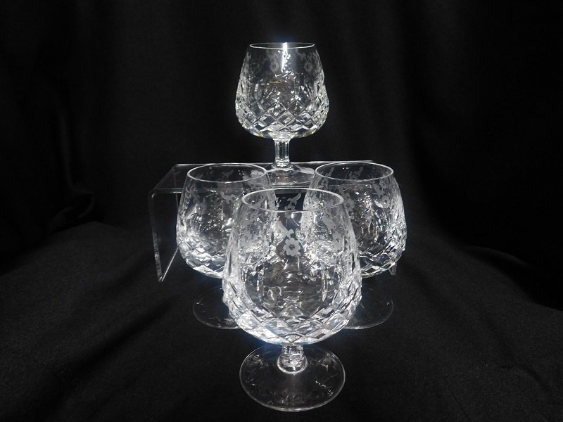 Set of Four Crystal Brandy Snifters