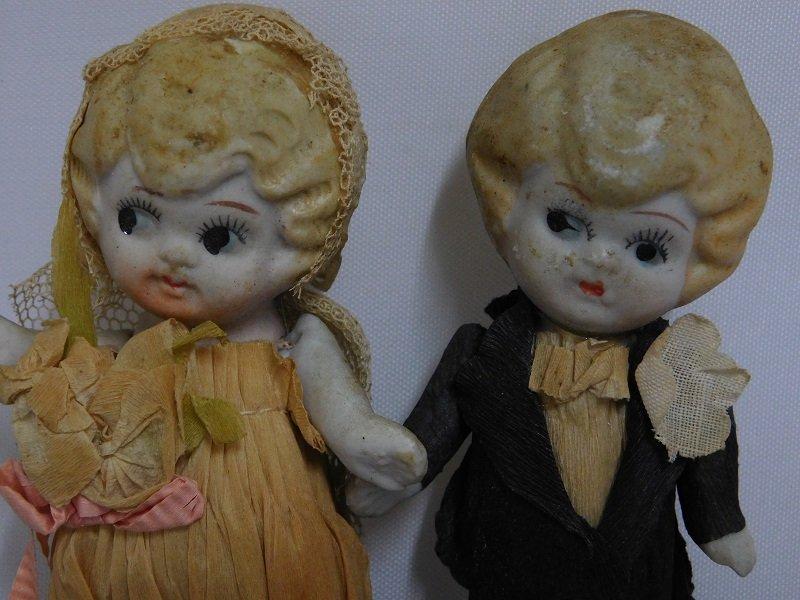 Antique Kewpie Wedding Cake Topper Dolls - 2