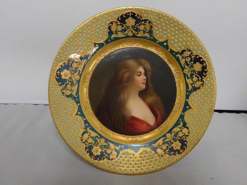 Royal Vienna Reflexion Portrait Plate