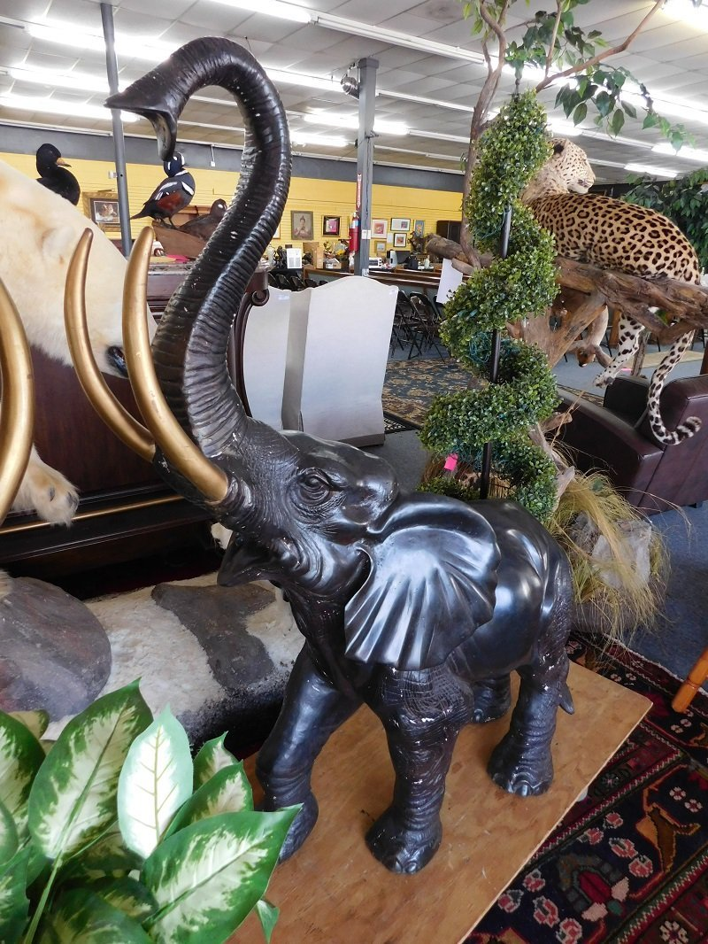 Large Bronze Elephant Statue