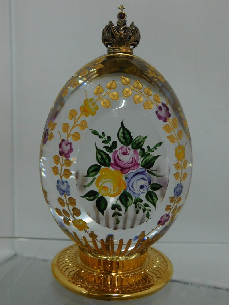 1994 Theo Faberge Rose Garden Egg with Case