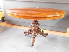 Vintage Mahogany Oval Pedestal Table