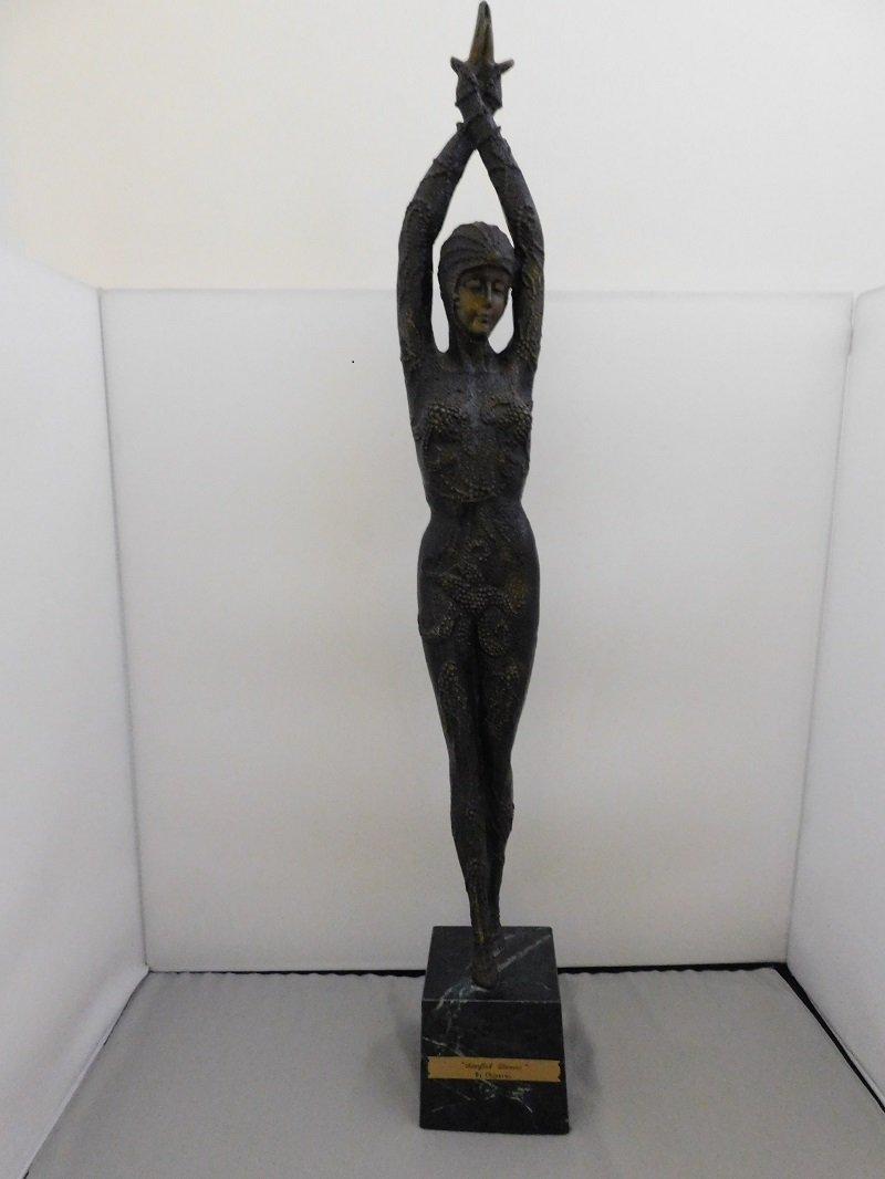 Art Nouveau Bronze Sculpture by Chiparus