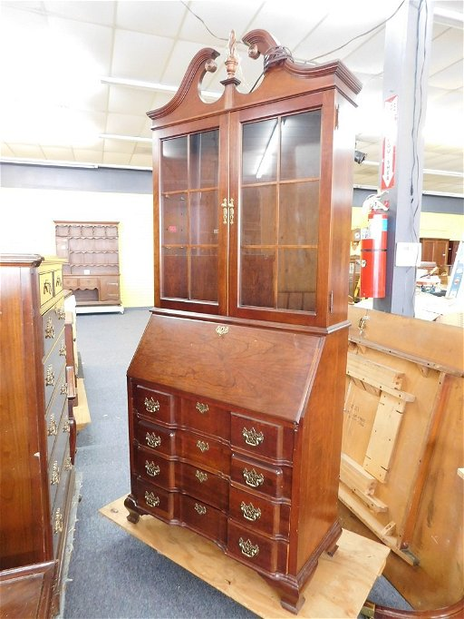 Mahogany Secretary Desk By Jasper Cabinet