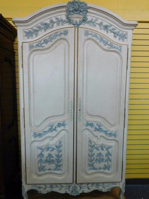 Large White Cottage French Wardrobe
