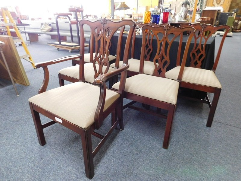 Set of Six Mahogany Chippendale Chairs