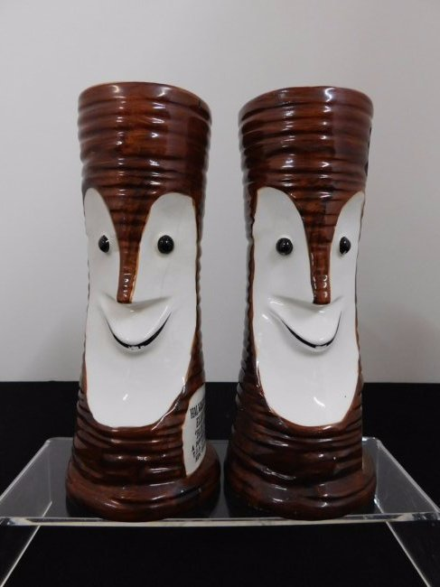 Pair of Vintage Elvis Presley Blue Hawaii Tiki Bob Mugs