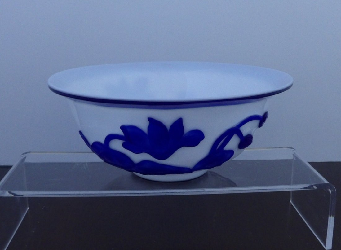 Peking Glass Overlay Bowl