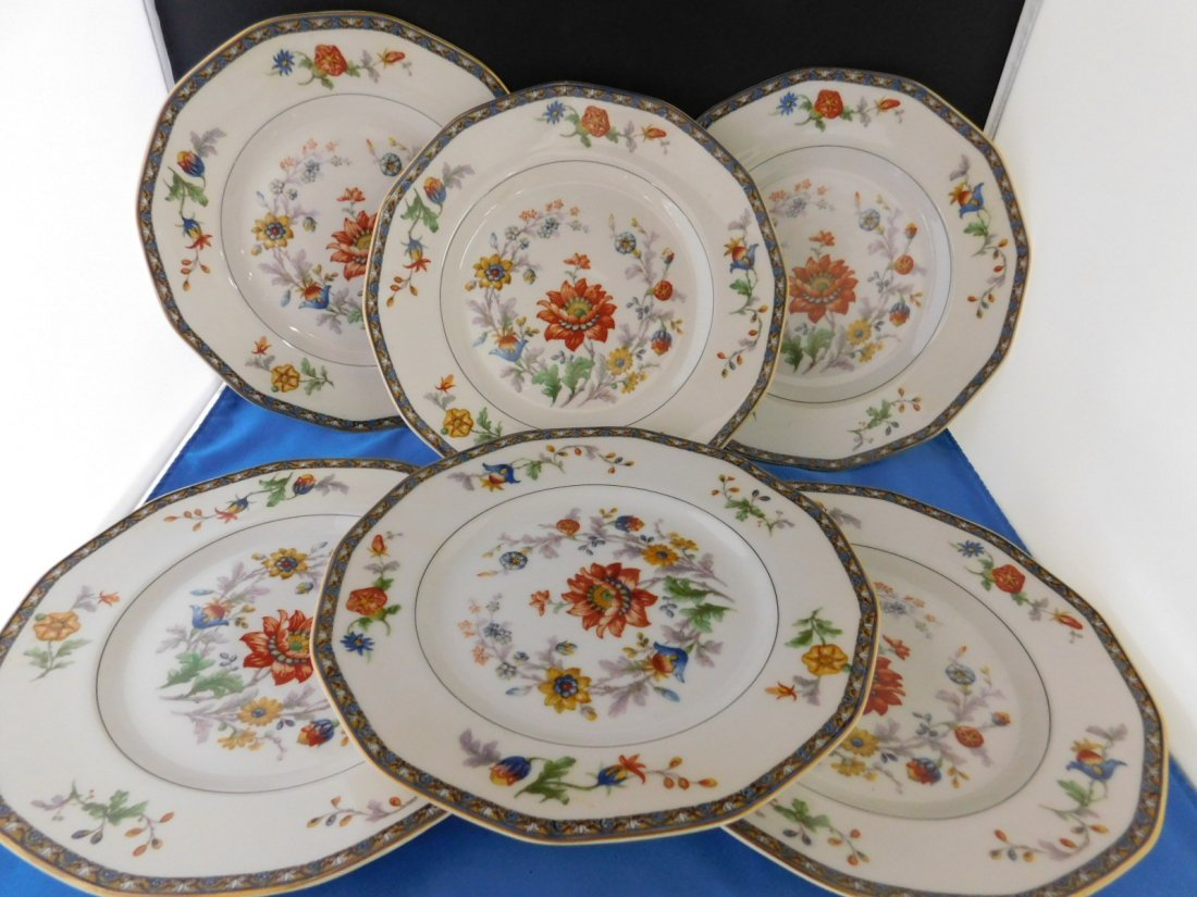 "6 Havilland Limoges ""Cluny"" Dinner Plates"