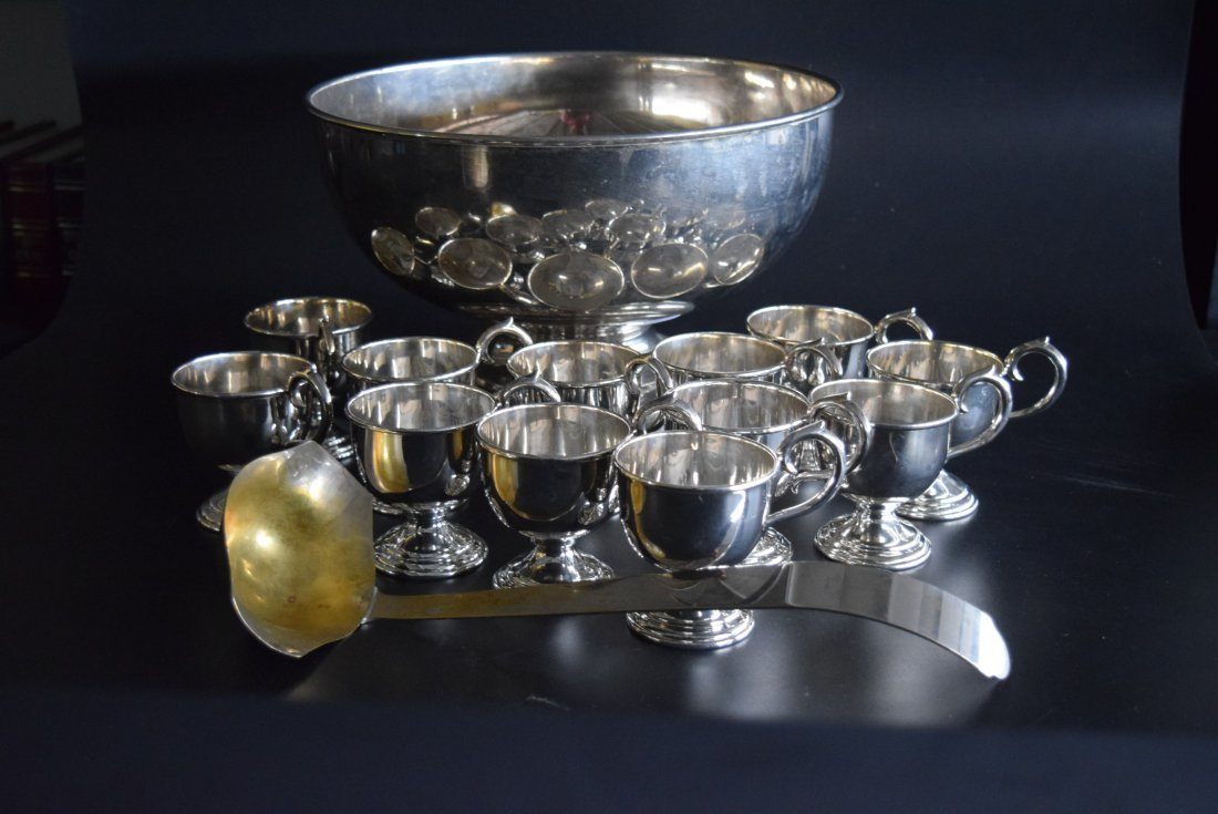 Silver Punch Bowl set