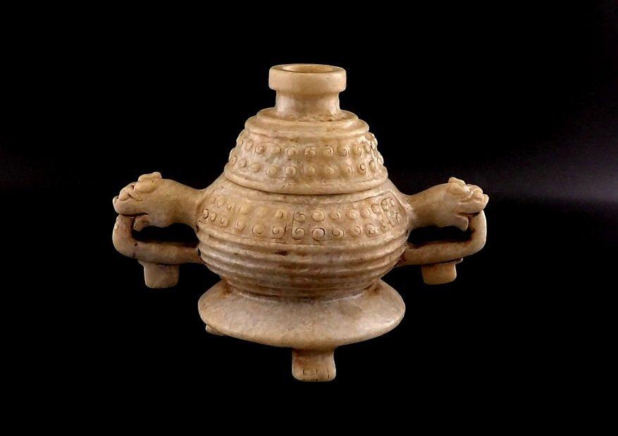 Chinese White Jade Incense Burner