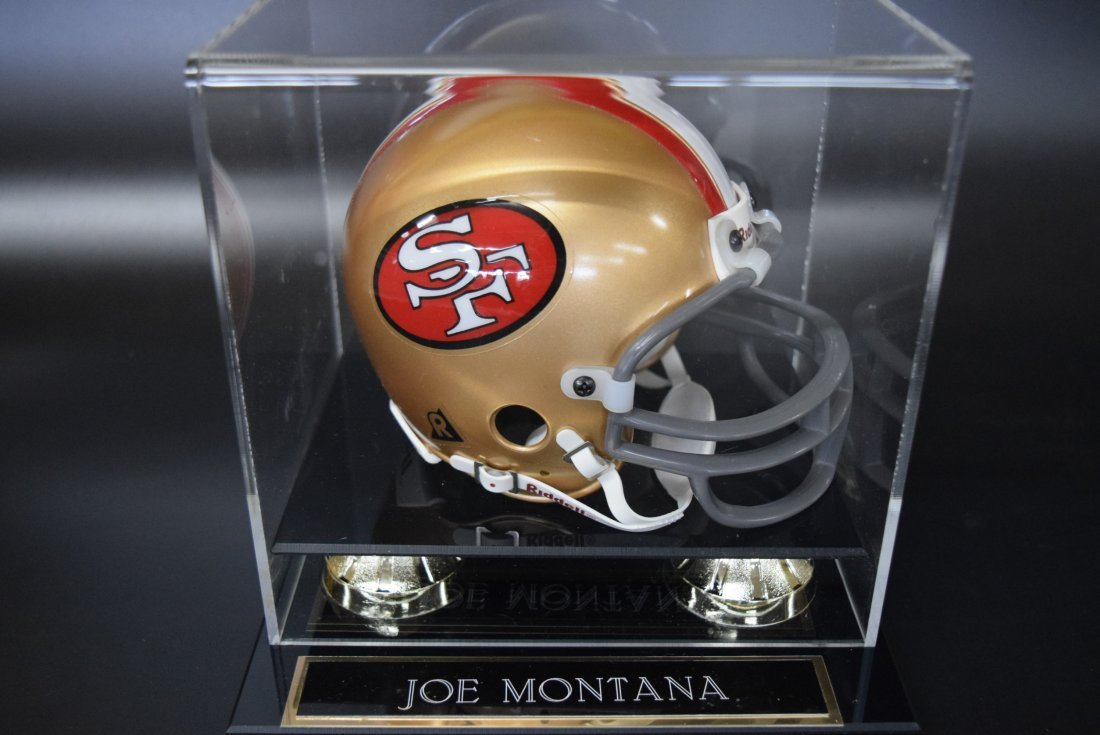 Joe Montana Signed Mini Helmet