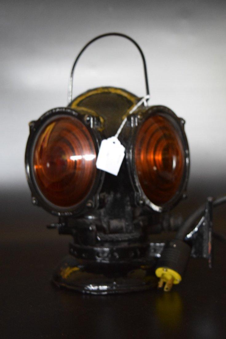 Cast Iron Railroad Electric Marker Light