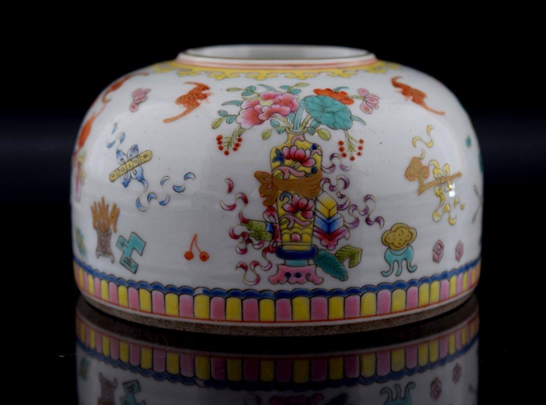 Chinese Fimille Rose Brush Pot