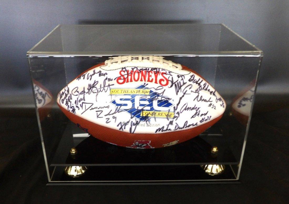 University of Alabama Autographed Football