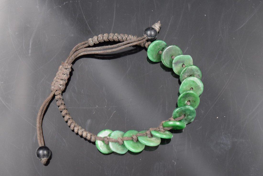Chinese Jade disc Bracelet