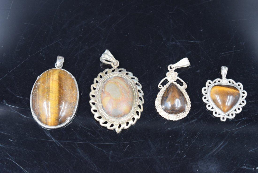 4 Stone pendants