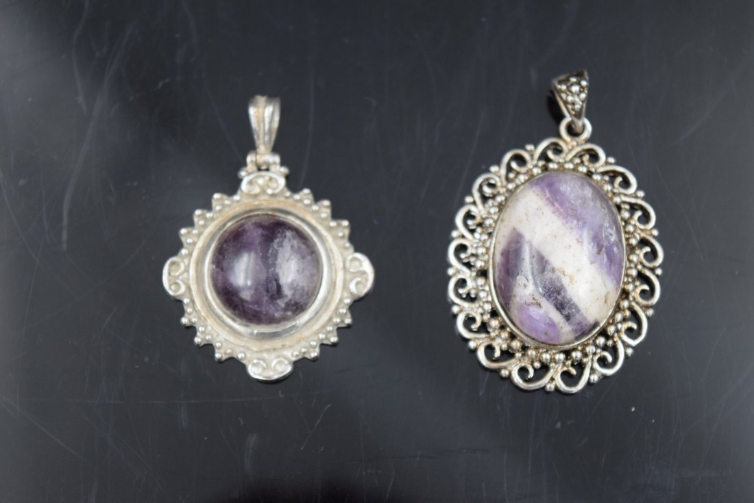 2 Stone Pendants