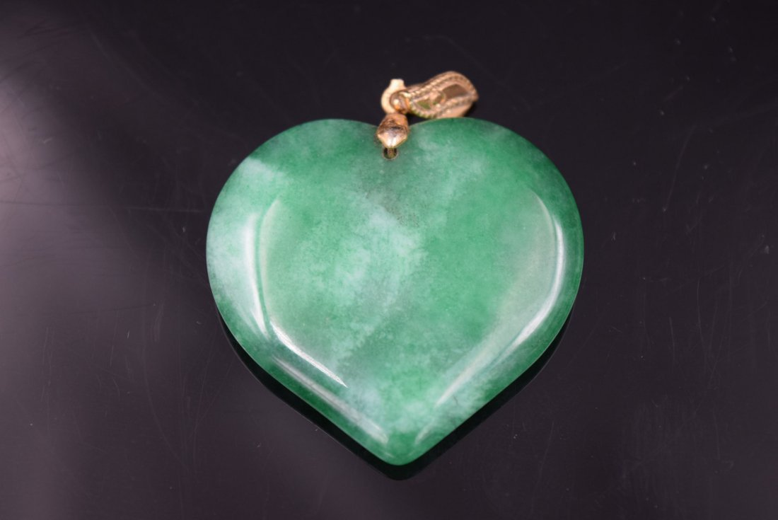 Hart Shaped Jade Pendant