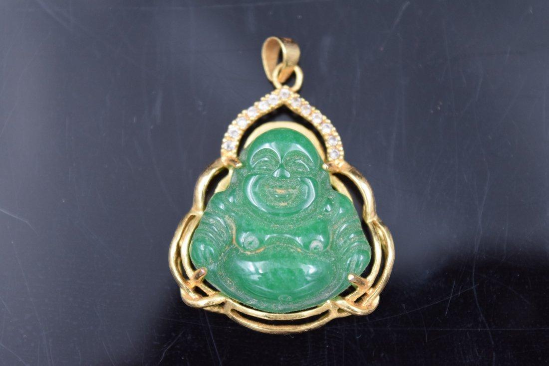 Chinese Jade Buddha Pendant