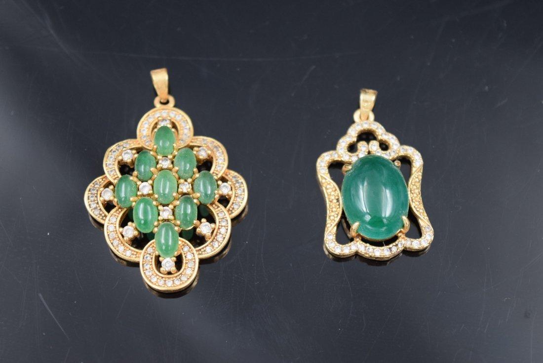 2 Chinese Jade Pendants